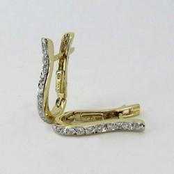 Zlaté náušnice s brilianty