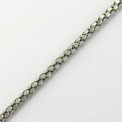 Řetízek z rhodiovaného stříbra S20-039