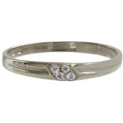Tenký zlatý prsten se zirkony