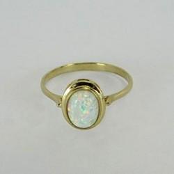Prsten ze zlata s opálem Z85-006