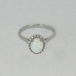Zlatý prsten s opalem Z85-008