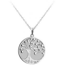 Svítící stříbrný náhrdelník Strom života, vel. 42-45 cm