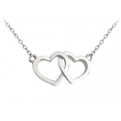 Stříbrný náhrdelník LOVE se srdíčky, vel. 42-45 cm