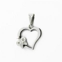 Ocelový přívěsek srdce DO50-005