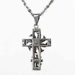 Řetízek a přívěsek křížek z oceli ST25-023, vel. 50 cm
