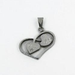 Ocelový přívěsek srdce ST50-001