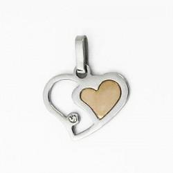 Ocelový přívěsek srdce ST50-024