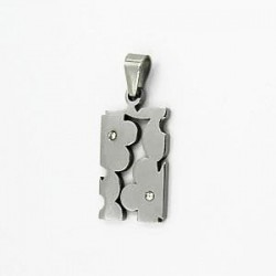 Přívěsek z oceli žiletka ST50-034