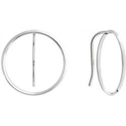 Moderní stříbrné náušnice Kruhy