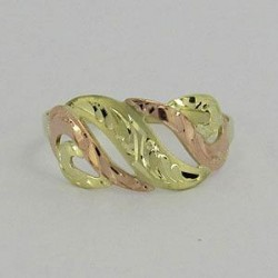 Zlatý prsten ze žlutého a červeného zlata Z70-127