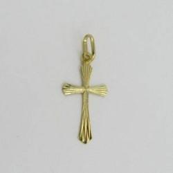Zlatý přívěsek křížek Z50-302