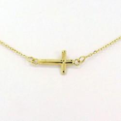 Zlatý přívěsek křížek s řetízkem Z50-525