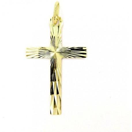 Zlatý přívěsek křížek