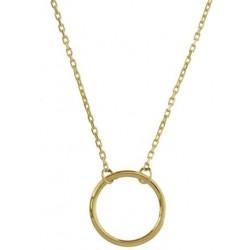 Zlatý náhrdelník s kroužkem