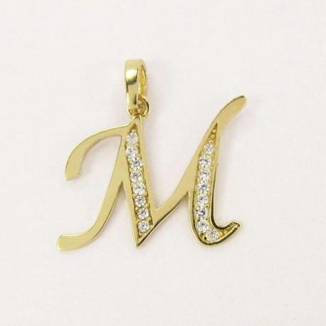 Zlatý přívěsek písmeno M Z54-049