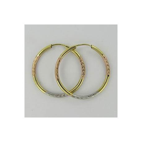 Zlaté náušnice kruhy Z40-254