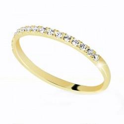 Zlatý prstýnek se zirkony