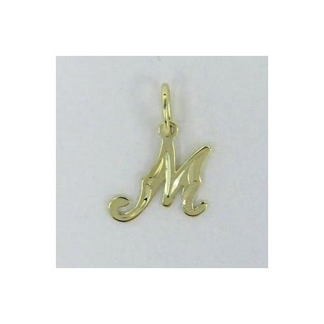 Zlatý přívěsek písmeno M Z54-035