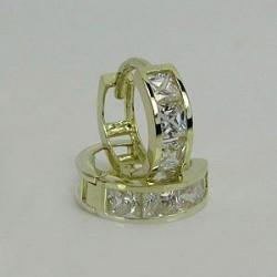 Náušnice zlaté se zirkony Z40-018