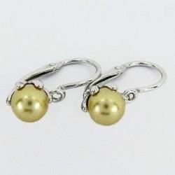 Stříbrné náušnice s perlou S45-004