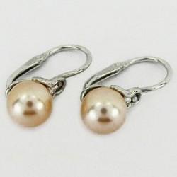 Stříbrné náušnice s perlou S45-006