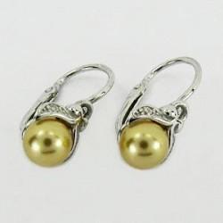 Stříbrné náušnice dětské s perlou S45-013