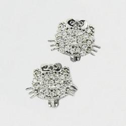 Stříbrné náušnice Hello Kitty S45-024