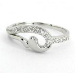 Stříbrný prsten se zirkony S70-097