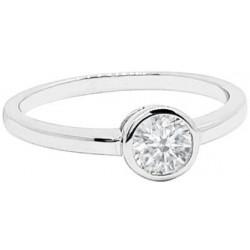 Decentní stříbrný prsten s bílým zirkonem