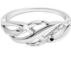 Elegantní broušený stříbrný prsten