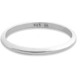 Decentní stříbrný prsten